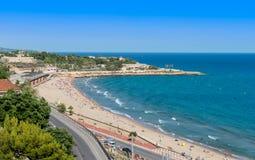 Costa de Tarragona que olha norte Foto de Stock Royalty Free