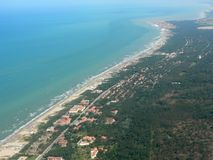 Costa de Toscana Imágenes de archivo libres de regalías