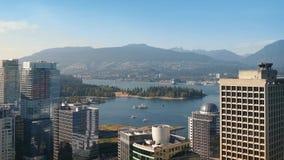 Costa de Vancouver en Sunny Day almacen de video
