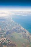 Costa del aire con las nubes Imagen de archivo