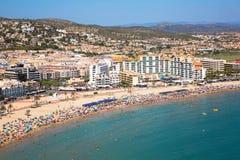 Costa del Azahar, Peniscola, Espagne Photo stock