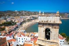 Costa del Azahar, Peniscola, Espanha Imagens de Stock