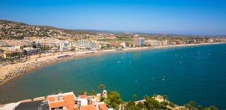 Costa del Azahar Peniscola, Spanien Arkivbilder