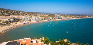 Costa del Azahar, Peniscola, Spanje Stock Afbeeldingen