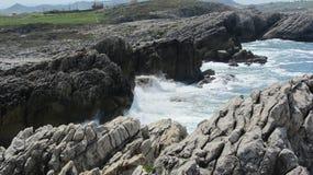 Costa del brico del ¡de Cantà del acantilado en España Foto de archivo libre de regalías