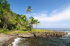 Costa del Caribe colombiana salvaje cerca de Capurgana fotografía de archivo