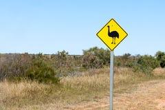 Costa del corallo del segno dell'emù Immagine Stock