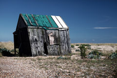 Costa del dungeness de la ruina de la ruina de la choza de la pesca Fotos de archivo libres de regalías