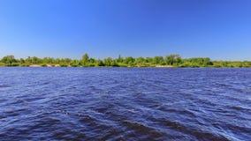 Costa del fiume di panorama Fotografia Stock