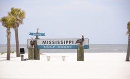 Costa del Golfo de Mississippi imagen de archivo libre de regalías