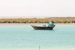 Costa del golfo persico Fotografia Stock