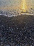 Costa del guijarro del Mar Negro Foto de archivo