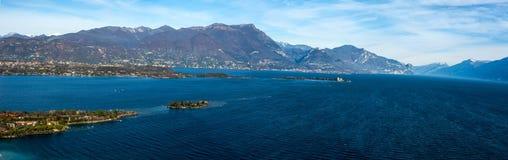 Costa del lago di polizia, desencano, Italia Fotografie Stock Libere da Diritti