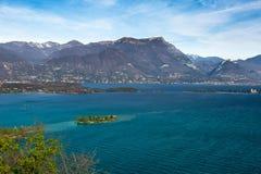 Costa del lago di polizia, desencano, Italia Fotografia Stock Libera da Diritti