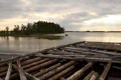 Costa del lago karelia Fotografie Stock Libere da Diritti