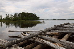 Costa del lago karelia Immagini Stock