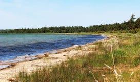 Costa del lago Michigan fotos de archivo