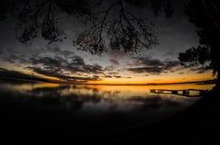 Costa del lago sunset Imágenes de archivo libres de regalías