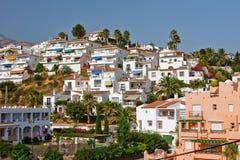 costa del liggande nerja solenoid-spanjor Royaltyfri Fotografi