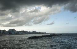 Costa costa del mar adriático Foto de archivo
