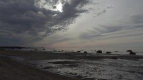 Costa del mar Báltico por la tarde del verano metrajes