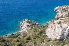 Costa del Mar Egeo Fotografía de archivo libre de regalías