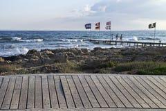 Costa del mar Mediterraneo Fotografia Stock