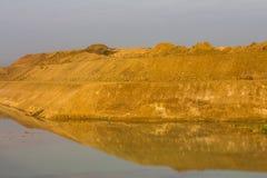 Costa del monticello del fondo Fotografie Stock