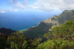 Costa del Na Pali, Kauai Foto de archivo