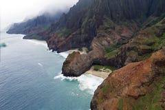 Costa del Na Pali - Kauai, Hawai Fotografie Stock Libere da Diritti