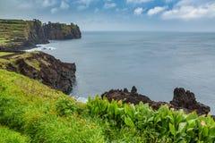 Costa del nord di sao Miguel Island, l'Oceano Atlantico immagine stock libera da diritti