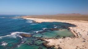 Costa del nord di vista aerea di Fuerteventura immagini stock