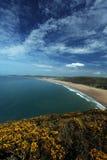 Costa del nord di Woolacombe Devon immagini stock