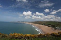Costa del nord di Woolacombe Devon fotografie stock libere da diritti