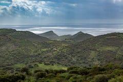 Costa del noroeste de la isla de Cerdeña fotografía de archivo libre de regalías