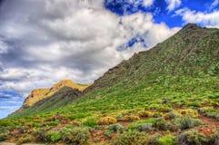 Costa del noroeste de Tenerife cerca del faro de Punto Teno, Canaria Imágenes de archivo libres de regalías