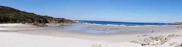 Costa del norte España del paisaje de la playa de Caion Imagen de archivo