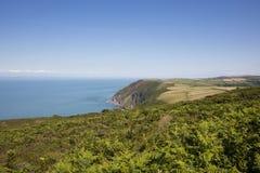 Costa del norte Inglaterra de Devon fotografía de archivo
