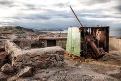 Costa del norte Rusia de la defensa de la artillería Fotografía de archivo