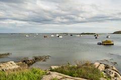 Costa costa del océano de la masopa del cabo en Maine los E.E.U.U. fotografía de archivo