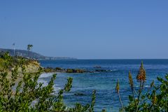 Costa del Océano Pacífico de la playa de Laguna imagen de archivo