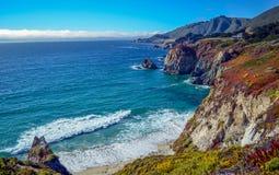 Costa del Pacífico, California Fotografía de archivo libre de regalías