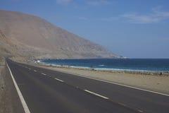 Costa del Pacífico de Chile en el desierto de Atacama imagen de archivo libre de regalías