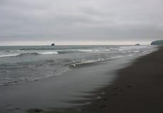 Costa del Pacífico de Kamchatka Foto de archivo libre de regalías