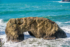 Costa del Pacifico di U.S.A., roccia dell'arco, stato dell'Oregon fotografie stock libere da diritti