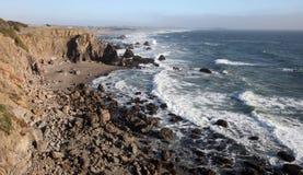 Costa del Pacifico, la contea di Sonoma, California fotografia stock libera da diritti