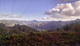 Costa del Pacifico - trascurare le montagne dell'Oregon Fotografie Stock