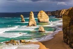 Costa del Pacifico vicino a Melbourne immagini stock
