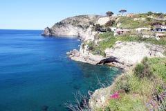 Costa del paesaggio degli ischi fotografia stock