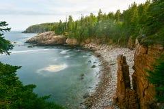 Costa del parco nazionale di acadia immagine stock libera da diritti